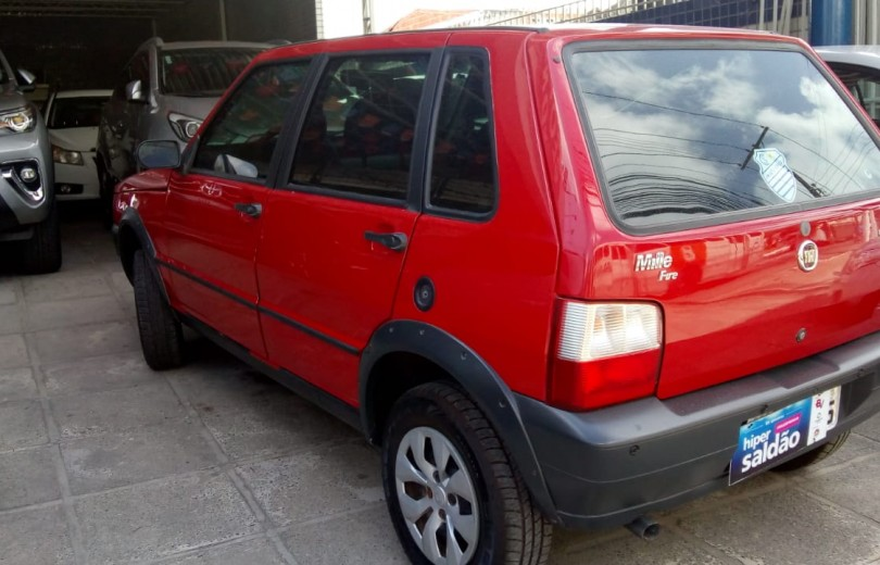 FIAT UNO 2008 1.0 MPI MILLE FIRE WAY ECONOMY CELEBRATION 8V FLEX 4P - Carango 81559 - Foto 9