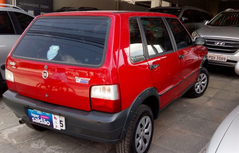 FIAT UNO 2008 1.0 MPI MILLE FIRE WAY ECONOMY CELEBRATION 8V FLEX 4P - Carango 81559 - Foto 3