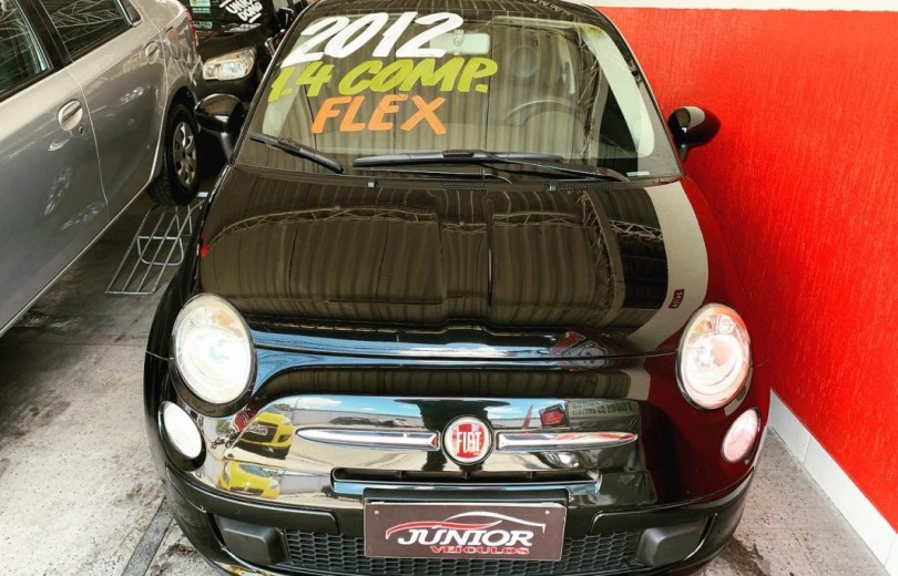 FIAT 500 2012 1.4 CULT 8V FLEX 2P MANUAL - Carango 83238 - Foto 2