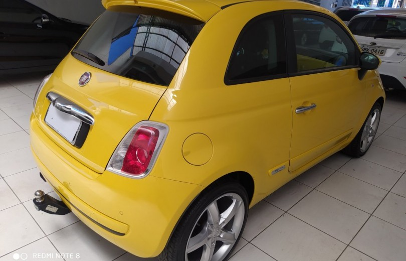FIAT 500 2010 1.4 LOUNGE 16V GASOLINA 2P MANUAL - Carango 84430 - Foto 3