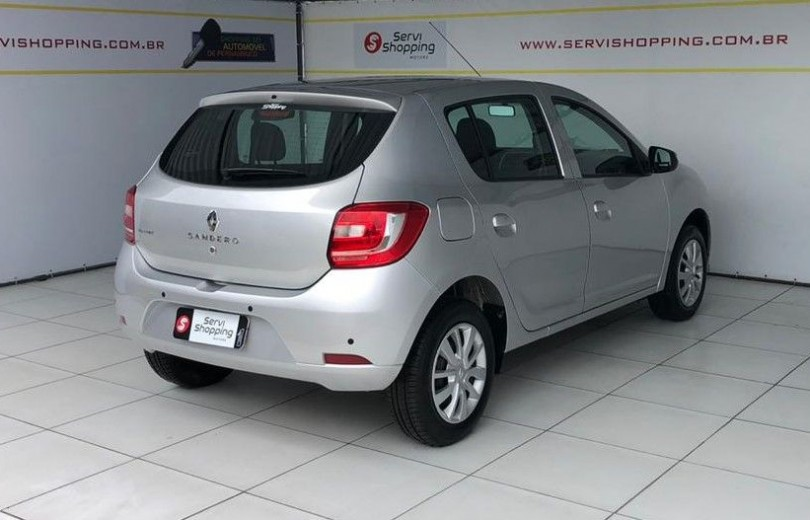 RENAULT SANDERO 2020  1.0 AUTHENTIQUE 4P FLEX  MANUAL  - Carango 89147 - Foto 3