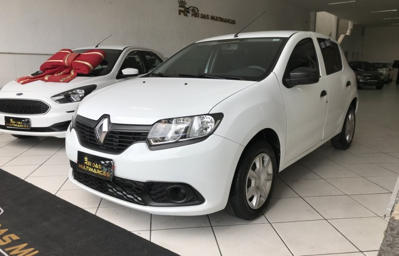 RENAULT SANDERO 2018  1.0 AUTHENTIQUE 4P FLEX  MANUAL  - Carango 93431 - Foto 1