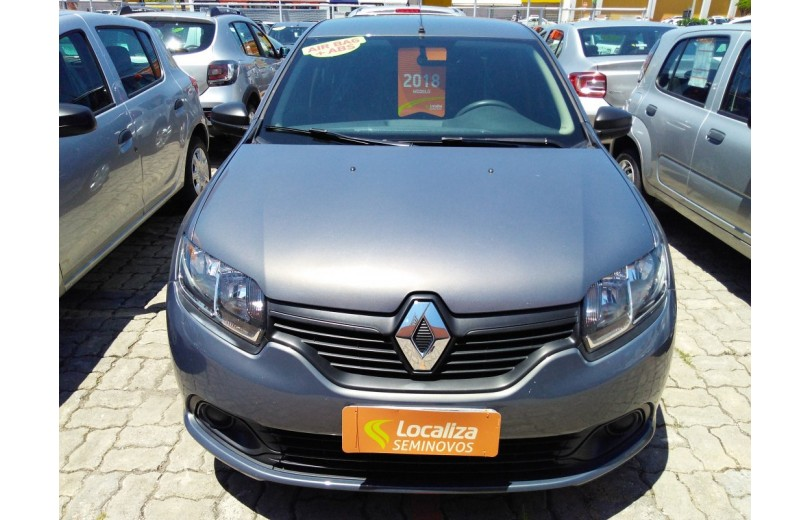 RENAULT LOGAN 2018 1.0 AUTHENTIQUE 16V HI-FLEX 4P MANUAL - Carango 68119 - Foto 2