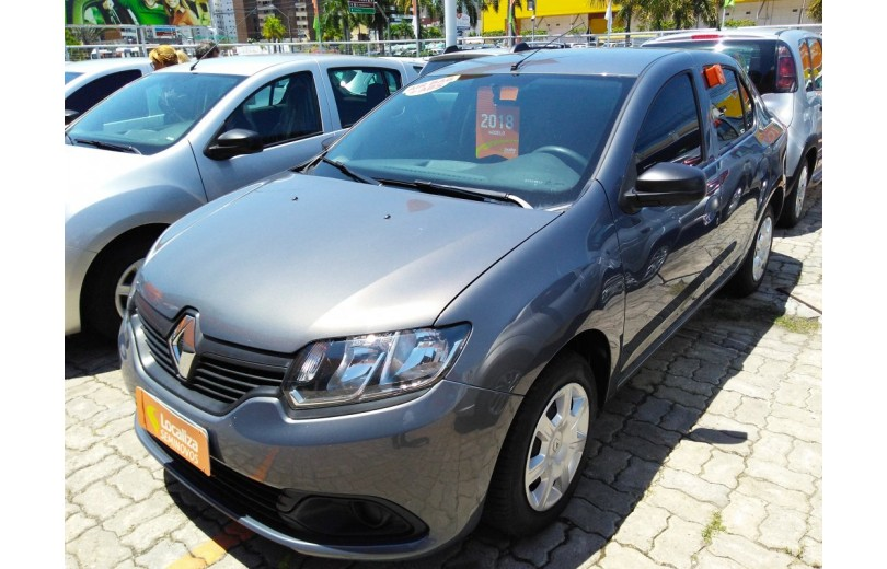 RENAULT LOGAN 2018 1.0 AUTHENTIQUE 16V HI-FLEX 4P MANUAL - Carango 68119 - Foto 1